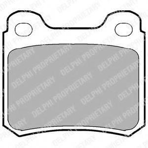 Комплект тормозных колодок, дисковый тормоз DELPHI LP915