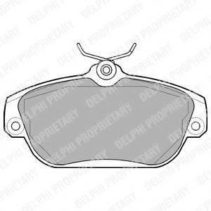Комплект тормозных колодок, дисковый тормоз DELPHI LP919
