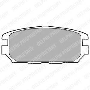 Комплект тормозных колодок, дисковый тормоз DELPHI LP921