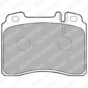 Комплект тормозных колодок, дисковый тормоз DELPHI LP929