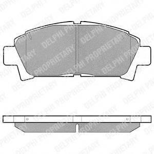 Комплект тормозных колодок, дисковый тормоз DELPHI LP940
