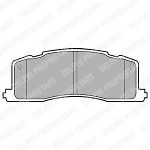 Комплект тормозных колодок, дисковый тормоз DELPHI LP943