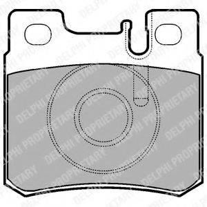 Комплект тормозных колодок, дисковый тормоз DELPHI LP946