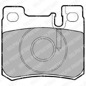 Комплект тормозных колодок, дисковый тормоз DELPHI LP947