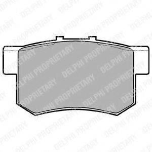Комплект тормозных колодок, дисковый тормоз DELPHI LP948