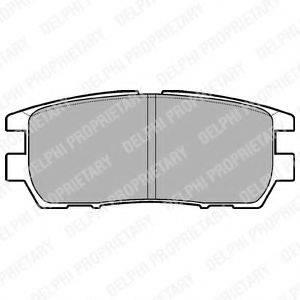 Комплект тормозных колодок, дисковый тормоз DELPHI LP954