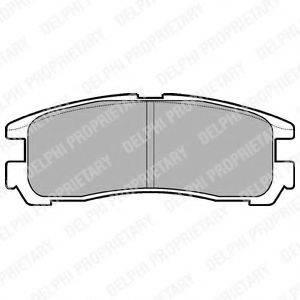 Комплект тормозных колодок, дисковый тормоз DELPHI LP955