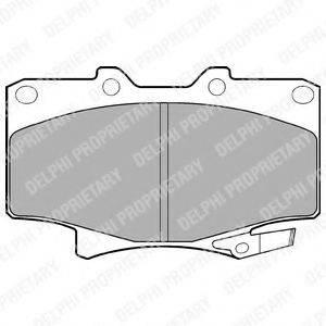 Комплект тормозных колодок, дисковый тормоз DELPHI LP962