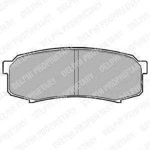 Комплект тормозных колодок, дисковый тормоз DELPHI LP963