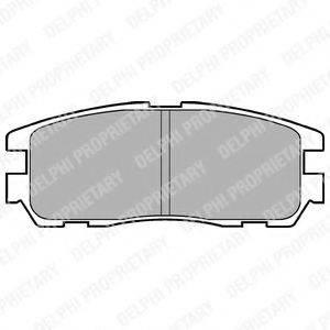 Комплект тормозных колодок, дисковый тормоз DELPHI LP965