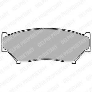 Комплект тормозных колодок, дисковый тормоз DELPHI LP967