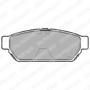 Комплект тормозных колодок, дисковый тормоз DELPHI LP968