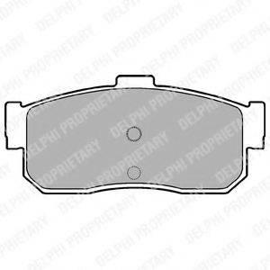 Комплект тормозных колодок, дисковый тормоз DELPHI LP971