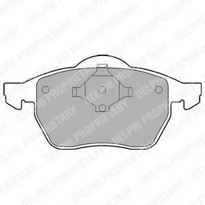 Комплект тормозных колодок, дисковый тормоз DELPHI LP978