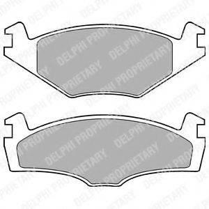 Комплект тормозных колодок, дисковый тормоз DELPHI LP979