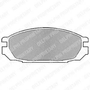 Комплект тормозных колодок, дисковый тормоз DELPHI LP983