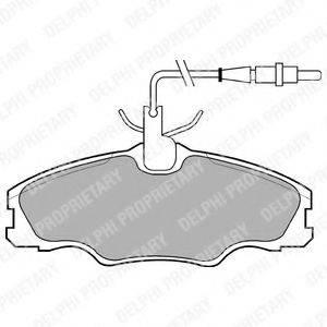 Комплект тормозных колодок, дисковый тормоз DELPHI LP985