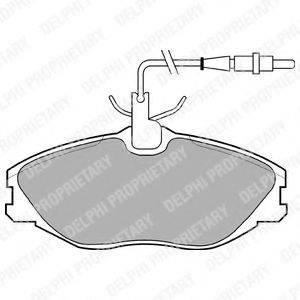 Комплект тормозных колодок, дисковый тормоз DELPHI LP986