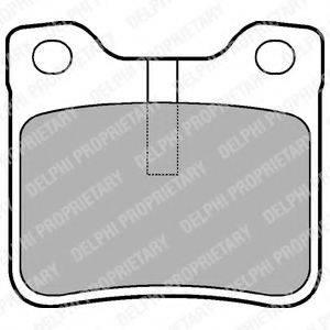 Комплект тормозных колодок, дисковый тормоз DELPHI LP991