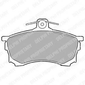Комплект тормозных колодок, дисковый тормоз DELPHI LP992