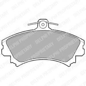 Комплект тормозных колодок, дисковый тормоз DELPHI LP993