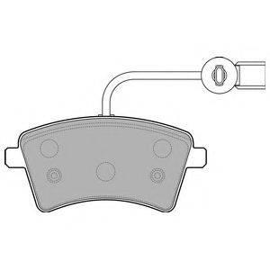 Комплект тормозных колодок, дисковый тормоз DELPHI LP2504