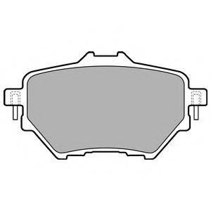 Комплект тормозных колодок, дисковый тормоз DELPHI LP2505