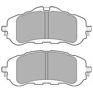 Комплект тормозных колодок, дисковый тормоз DELPHI LP2506