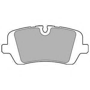 Комплект тормозных колодок, дисковый тормоз DELPHI LP2508