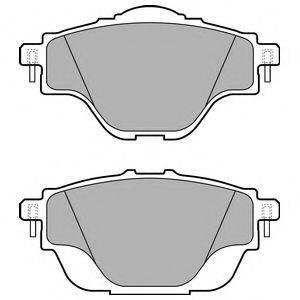 Комплект тормозных колодок, дисковый тормоз DELPHI LP2509