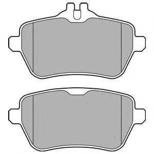Комплект тормозных колодок, дисковый тормоз DELPHI LP2659