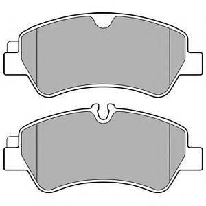 Комплект тормозных колодок, дисковый тормоз DELPHI LP2662
