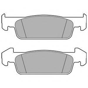 Комплект тормозных колодок, дисковый тормоз DELPHI LP2663