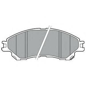 Комплект тормозных колодок, дисковый тормоз DELPHI LP2664
