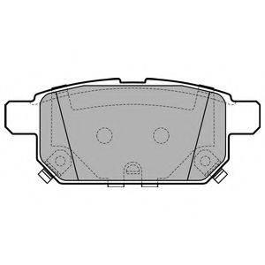 Комплект тормозных колодок, дисковый тормоз DELPHI LP2687