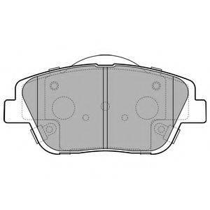 Комплект тормозных колодок, дисковый тормоз DELPHI LP2688