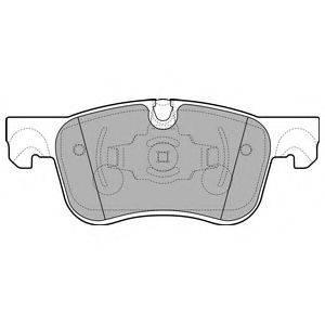 Комплект тормозных колодок, дисковый тормоз DELPHI LP2689