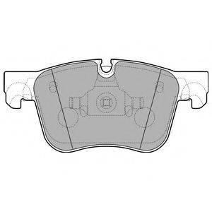 Комплект тормозных колодок, дисковый тормоз DELPHI LP2690
