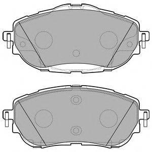Комплект тормозных колодок, дисковый тормоз DELPHI LP2691