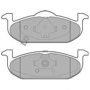 Комплект тормозных колодок, дисковый тормоз DELPHI LP2695
