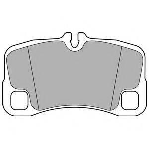 Комплект тормозных колодок, дисковый тормоз DELPHI LP2696