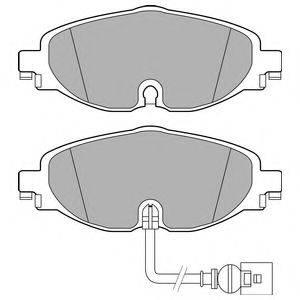 Комплект тормозных колодок, дисковый тормоз DELPHI LP2698