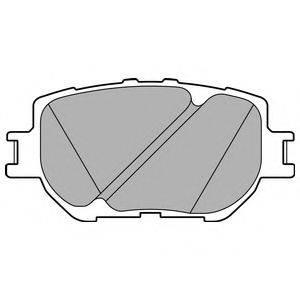 Комплект тормозных колодок, дисковый тормоз DELPHI LP2699