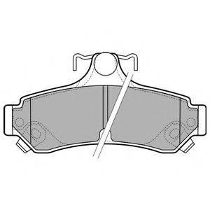 Комплект тормозных колодок, дисковый тормоз DELPHI LP2700