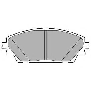 Комплект тормозных колодок, дисковый тормоз DELPHI LP2701