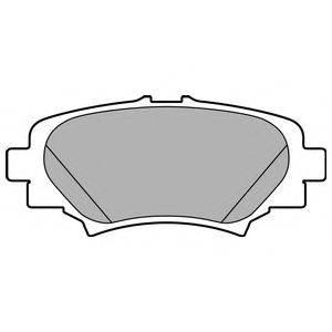 Комплект тормозных колодок, дисковый тормоз DELPHI LP2702