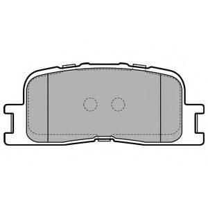 Комплект тормозных колодок, дисковый тормоз DELPHI LP2703