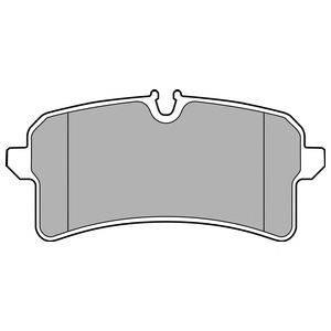 Комплект тормозных колодок, дисковый тормоз DELPHI LP2706