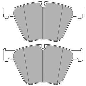 Комплект тормозных колодок, дисковый тормоз DELPHI LP2707
