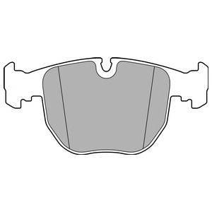 Комплект тормозных колодок, дисковый тормоз DELPHI LP2708